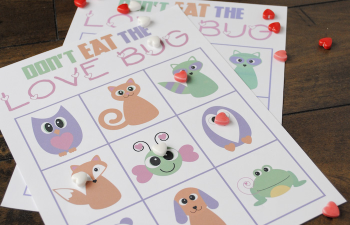 Don't Eat the Love Bug Printable Game