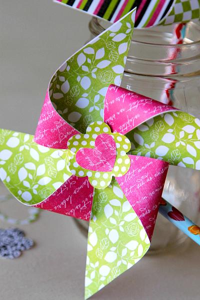 Pinwheel Valentine from MomDot