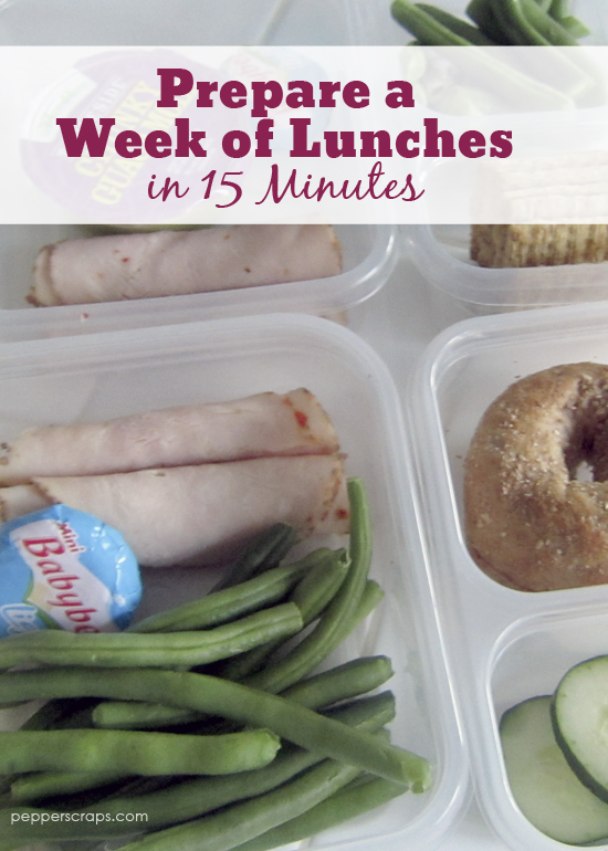 Prepare a Week of Lunches in 15 Minutes