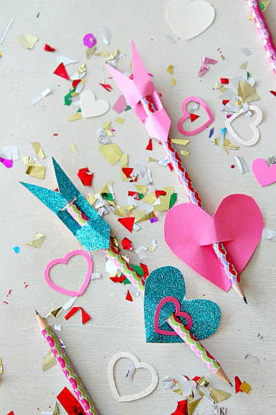 Valentine Pencil Arrows by MomDot