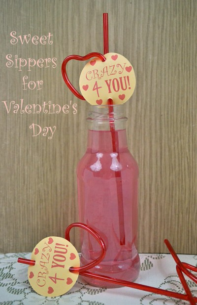 Valentine Straw Sippers