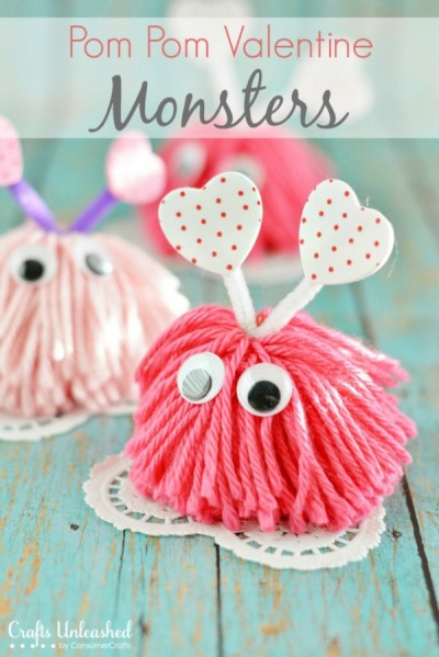 Valentine-craft-monsters-Crafts-Unleashed by CraftsUnleashed