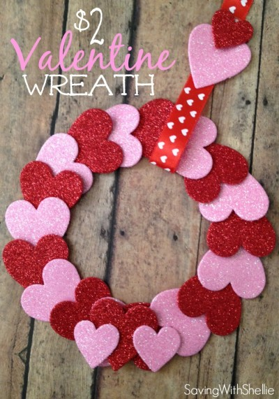 ValentineWreath by Saving with Shellie