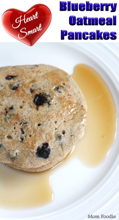 Blueberry-Oatmeal-Pancakes