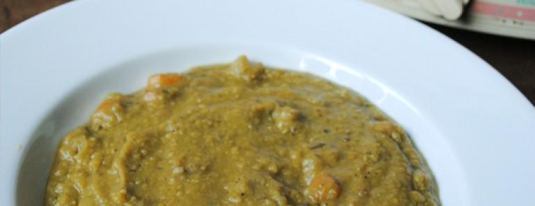 Split Pea Soup in the Crock Pot