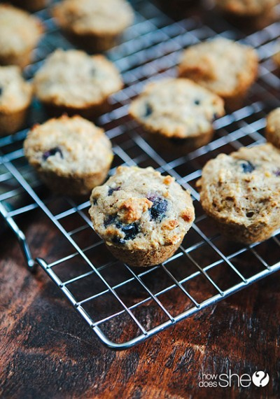 blueberry-banana-power-muffins