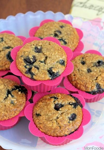 blueberry-burst-banana-oatmeal-muffins