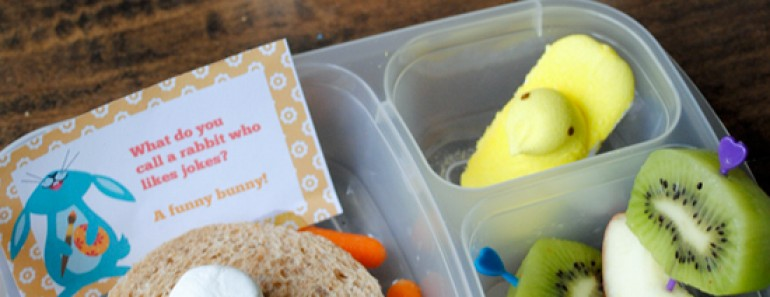Easy Easter Bunny Bento Lunch