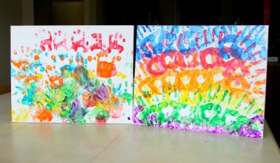 Rainbow Handprints
