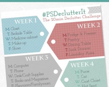 20 Minute Declutter Challenge Get Organized