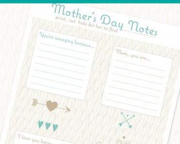 Free Printable Mothers Day Notes by Pepper Scraps