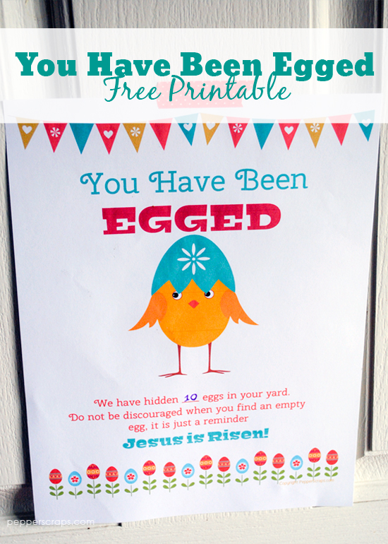 You Have Been Egged Free Printable A Fun Easter Activity