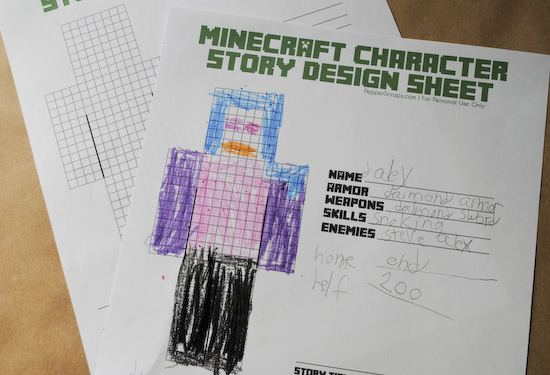 Minecraft Character Story Design Sheet_3