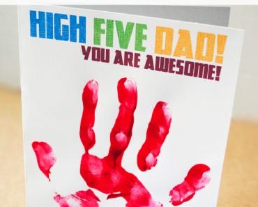 Printable Hand Print Fathers Day Card