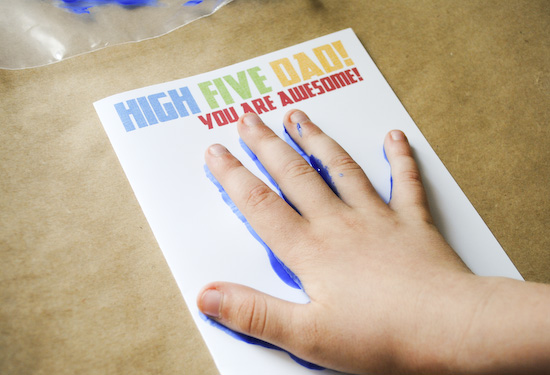 high five dad card