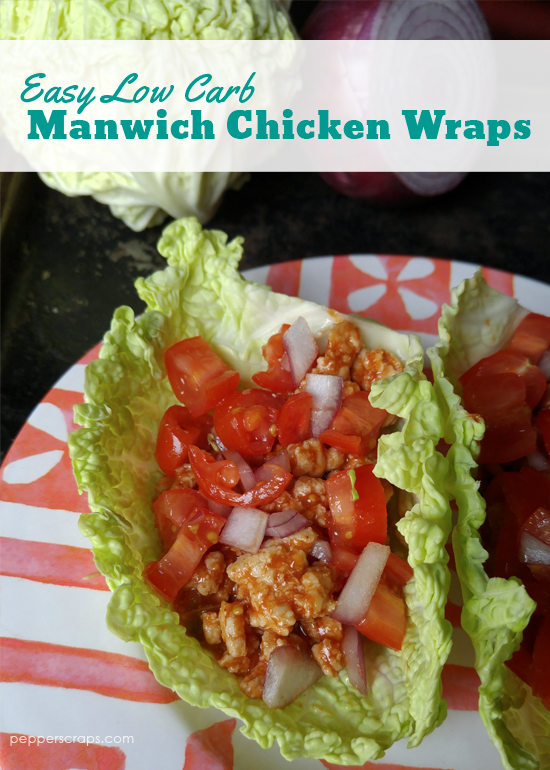 Easy Low Carb Manwich Chicken Wraps