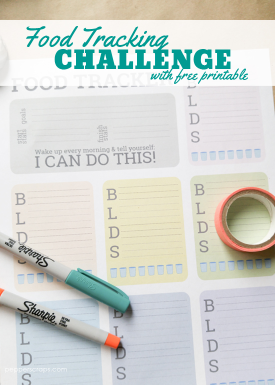 Food Tracking Challenge with Free Printable