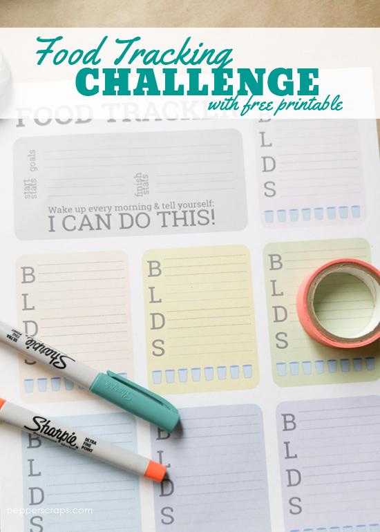 Food Tracking Challenge with Free Printable
