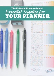 The Ultimate Planner Guide Essential Supplies For Your Planner