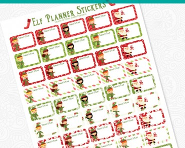 PrintableElfPlannerStickers