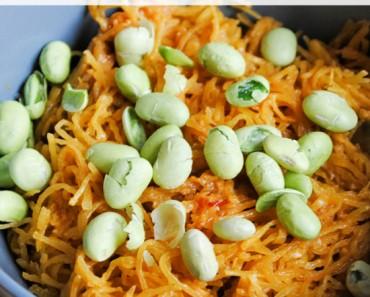 Spaghetti Squash with Peanut Sauce