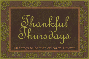 thankful thursdays