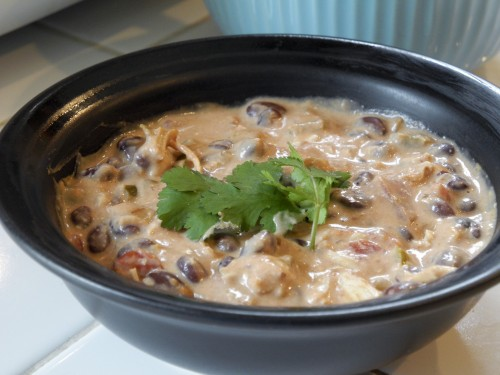 Skinny Creamy Black Bean Chicken Soup (Crock Pot) | Pepper Scraps