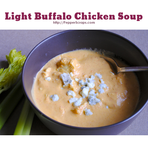 Light Buffalo Chicken Soup