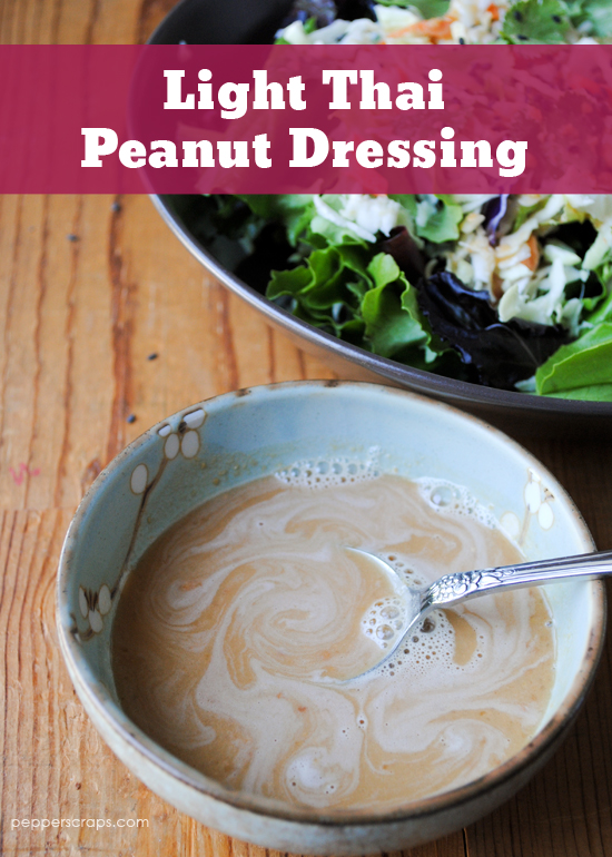 Light Thai Peanut Dressing