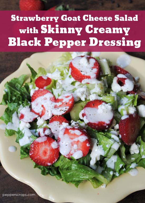 ... Salad with Skinny Creamy Black Pepper Dressing – Pepper Scraps