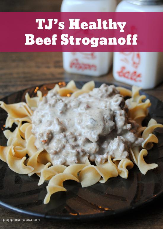 Tj S Healthy Beef Stroganoff In The Slow Cooker Pepper Scraps