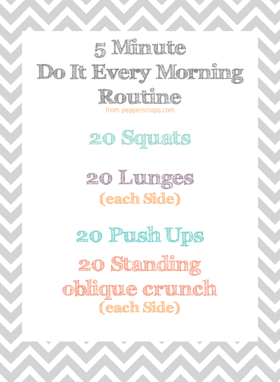 photo about Free Printable Workout Routines identify Increase A Easy Early morning Exercise routine towards Your Program Cost-free Printable