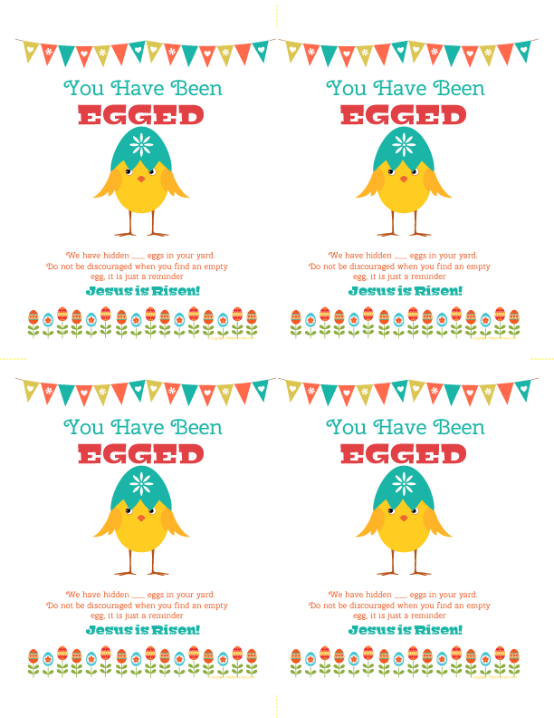photo about You Ve Been Egged Printable identify On your own Contain Been Egged A Enjoyment Easter Game Free of charge Printable