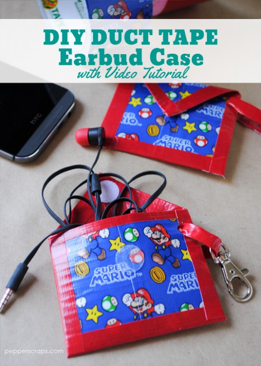 Easy Diy Duct Tape Earbud Case Pepper Scraps