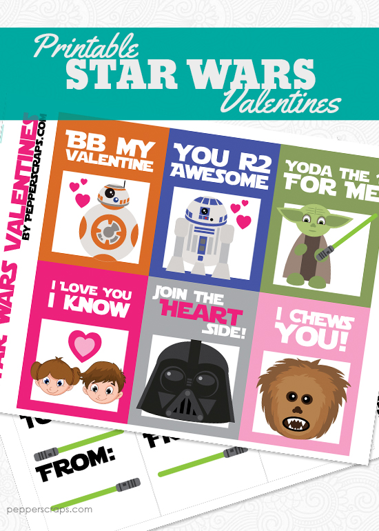 photo about Star Wars Bookmark Printable referred to as Free of charge Printable Star Wars Valentines Pepper Ss